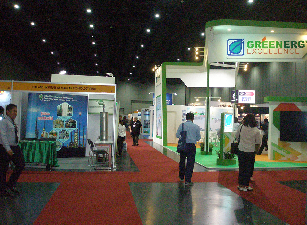 Exhibitors and visitors of the event
