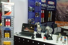 Products and services displayed in our booth